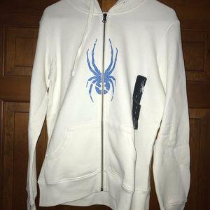 NWT Spyder zip front hooded sweatshirt
